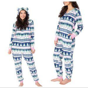 Munki Munki Ladies' Plush One Piece Onesie Pajamas